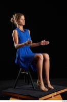 Sarah Kay  1 blue dress brown high heels casual dressed sitting whole body 0014.jpg