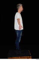 Lutro blue jeans casual dressed standing white t shirt whole body 0015.jpg