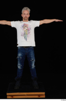 Lutro blue jeans casual dressed standing t poses white t shirt whole body 0001.jpg