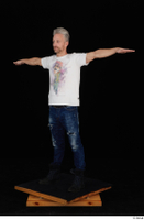 Lutro blue jeans casual dressed standing t poses white t shirt whole body 0003.jpg