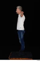 Lutro blue jeans casual dressed standing t poses white t shirt whole body 0004.jpg