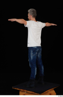 Lutro blue jeans casual dressed standing t poses white t shirt whole body 0005.jpg