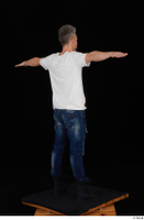 Lutro blue jeans casual dressed standing t poses white t shirt whole body 0007.jpg