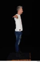Lutro blue jeans casual dressed standing t poses white t shirt whole body 0008.jpg