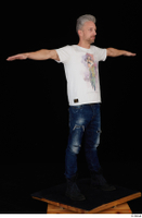 Lutro blue jeans casual dressed standing t poses white t shirt whole body 0009.jpg