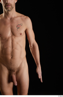 Lutro  1 arm flexing front view nude 0001.jpg