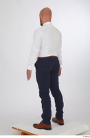 Neeo blue trousers brown oxford shoes business dressed red bow tie standing white shirt whole body 0004.jpg
