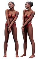 Cleaned Raw 3D Body scan of Adela Standing 01