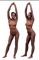 Cleaned Raw 3D Body scan of Adela Standing 02