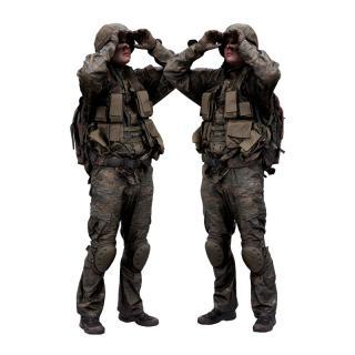 Cleaned 3D scan Michael Howard Army Binoculars Standing