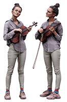 Cleaned Raw 3D Body scan of Waja Standing Violin 23
