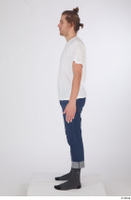 Arvid blue jeans casual dressed socks standing white t shirt whole body 0003.jpg