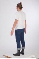 Arvid blue jeans casual dressed socks standing white t shirt whole body 0004.jpg
