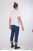 Arvid blue jeans casual dressed socks standing white t shirt whole body 0006.jpg