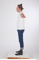 Arvid blue jeans casual dressed socks standing t poses white t shirt whole body 0003.jpg