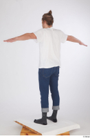 Arvid blue jeans casual dressed socks standing t poses white t shirt whole body 0004.jpg