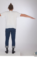 Arvid blue jeans casual dressed socks standing t poses white t shirt whole body 0005.jpg
