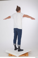 Arvid blue jeans casual dressed socks standing t poses white t shirt whole body 0006.jpg