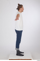 Arvid blue jeans casual dressed socks standing t poses white t shirt whole body 0007.jpg