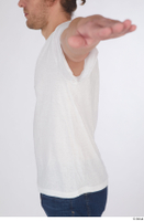 Arvid casual dressed upper body white t shirt 0003.jpg