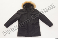Clothes   271 black coat black parka casual hood with fur 0001.jpg