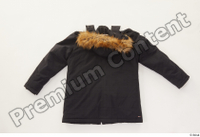Clothes   271 black coat black parka casual hood with fur 0002.jpg