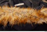 Clothes   271 black coat black parka casual hood with fur 0003.jpg