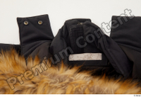 Clothes   271 black coat black parka casual hood with fur 0004.jpg