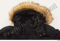 Clothes   271 black coat black parka casual hood with fur 0005.jpg