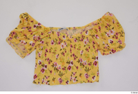 Clothes   272 clothing yellow strapless t shirt 0001.jpg