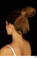 Groom references of Amal brown hair head high messy bun 0010.jpg