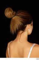 Groom references of Amal brown hair head high messy bun 0012.jpg