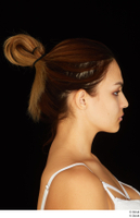 Groom references of Amal brown hair head high messy bun 0013.jpg