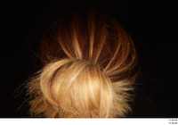 Groom references of Amal brown hair high messy bun 0005.jpg