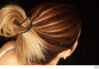 Groom references of Amal brown hair high messy bun 0006.jpg