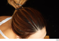 Groom references of Amal brown hair high messy bun 0008.jpg