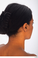 Groom references of Cecelia black long hair haircut with large claw clip low hair bun 0011.jpg