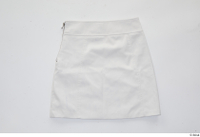 Clothes   274 casual clothing white short leather skirt 0001.jpg