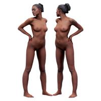 Cleaned Raw 3D Body scan of Adela Standing 05