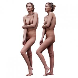 Cleaned scan Shenika Nude Standing 39