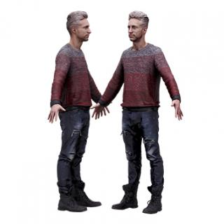 Cleaned Raw 3D Body scan of Lutro Standing
