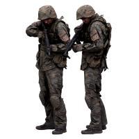 Cleaned 3D scan Michael Howard Army Aim Down