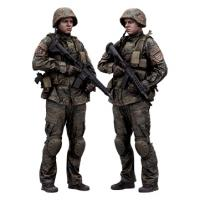 Cleaned Raw 3D Body scan of Military Standing 16