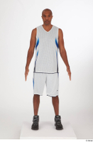 Tiago basketball clothing black sneakers dressed standing white shorts white tank top whole body 0001.jpg