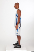 Tiago basketball clothing black sneakers dressed standing white shorts white tank top whole body 0003.jpg