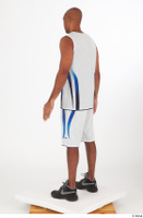 Tiago basketball clothing black sneakers dressed standing white shorts white tank top whole body 0004.jpg