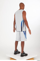 Tiago basketball clothing black sneakers dressed standing white shorts white tank top whole body 0006.jpg