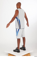 Tiago basketball clothing black sneakers dressed standing white shorts white tank top whole body 0012.jpg