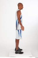 Tiago basketball clothing black sneakers dressed standing white shorts white tank top whole body 0015.jpg