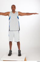 Tiago basketball clothing black sneakers dressed standing t poses white shorts white tank top whole body 0001.jpg